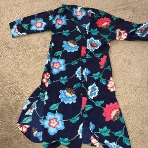 COPY - Longline silk floral kimono